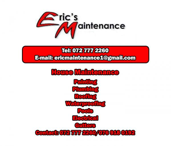 Eric Maintenance and Renovations